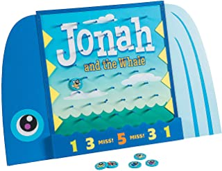 Fun Express - Jonah and The Whale Disk Drop Game - Toys - Games - Carnival & Bingo - 7 Pieces