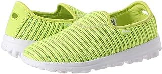 Peak Two-Tone Canvas Mesh Striped Side Logo Slip-On Running Shoes for Women