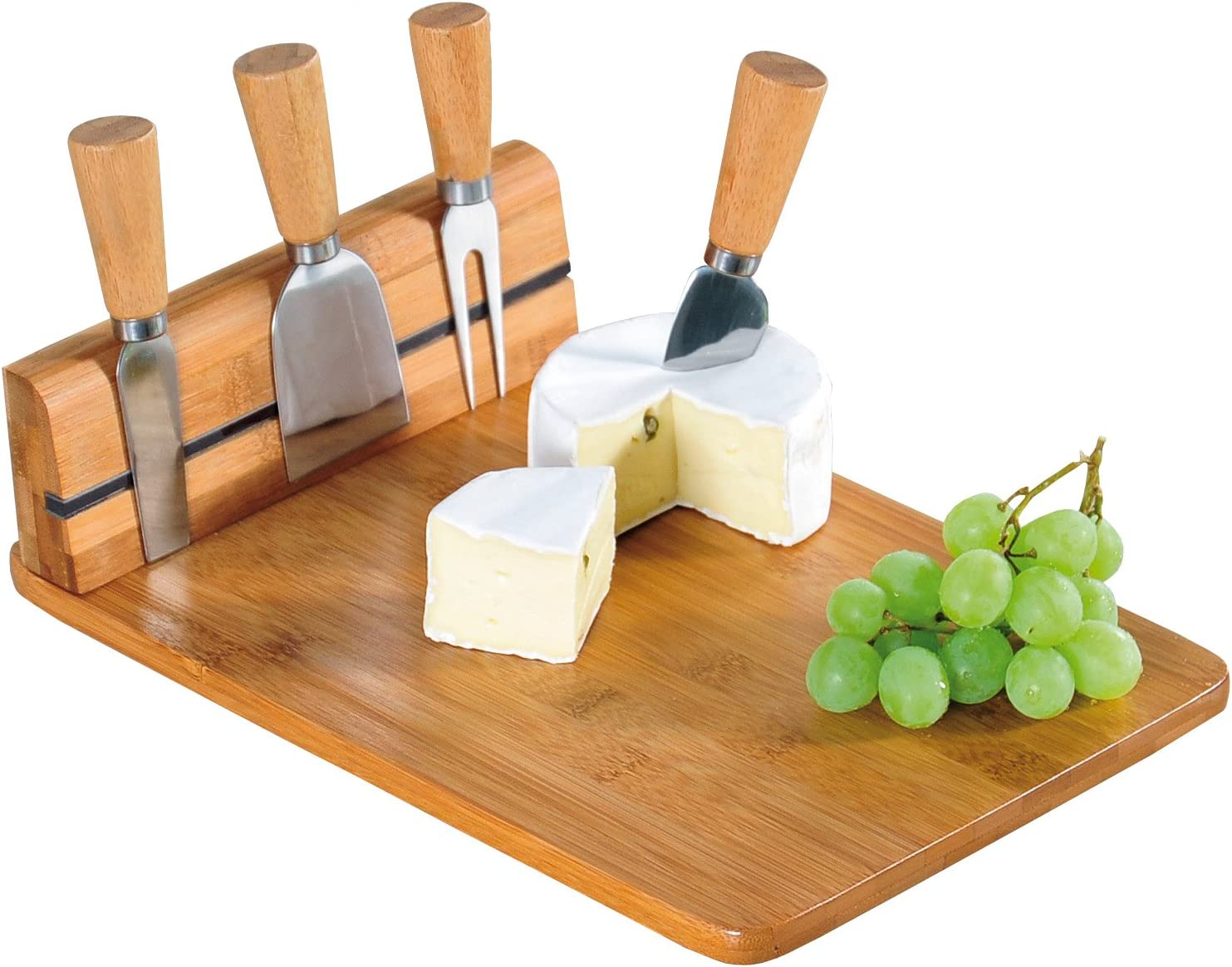 Kesper Cheese Factory outlet Cutting Board with Cutlery Bamboo Brown Memphis Mall