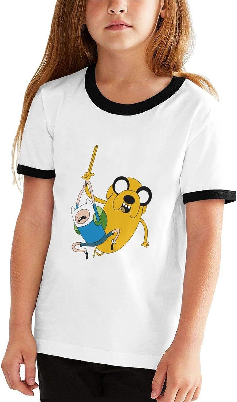 HsHdesign Boys/Girls Cartoon F_Inn J_AKE Sportstyle Classic Ringer Short Sleeve School T Shirts Athletic Tee Tops