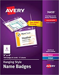 Avery Name Badges with Lanyards, Print or Write,  3