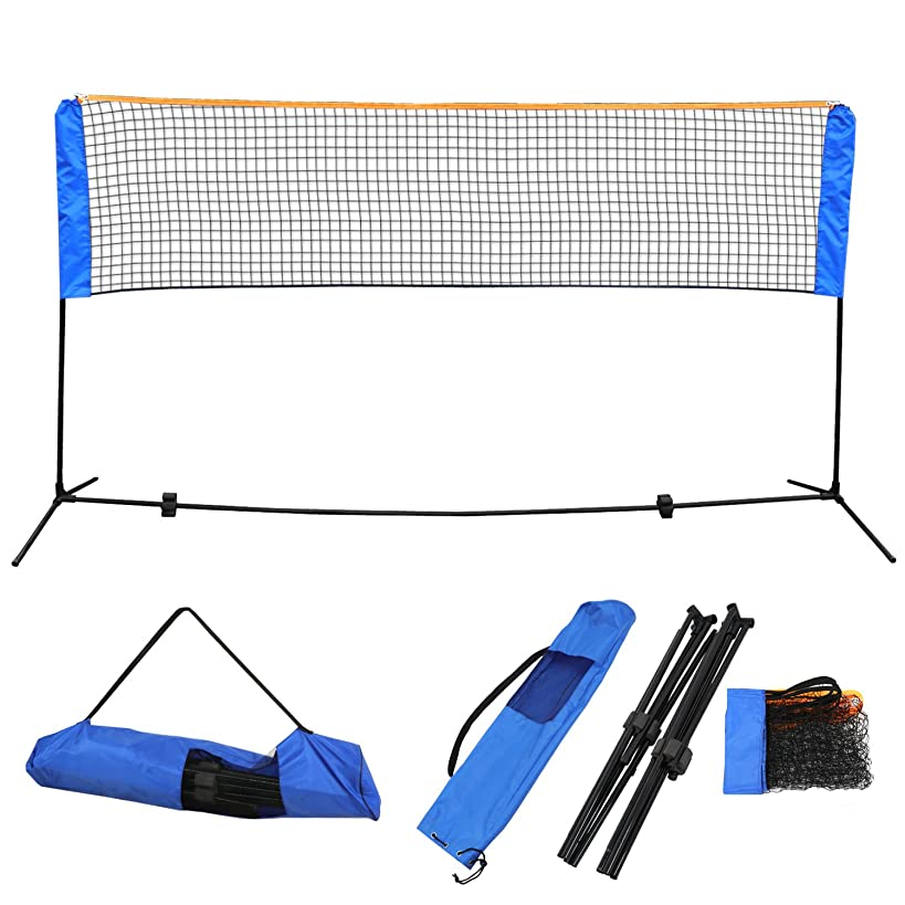 ZENY 10 Ft Long 5 Ft High Portable Badminton Net Beach Volleyball Tennis Competition Sports Training Net Set w/Poles, Stand & Carrying Bag,Height Adjustable Outdoor,Beach Games