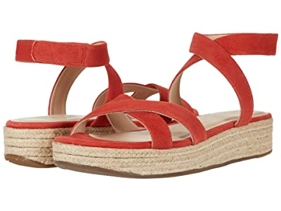 ABLE Larissa Sport (Bright Coral Suede) Women