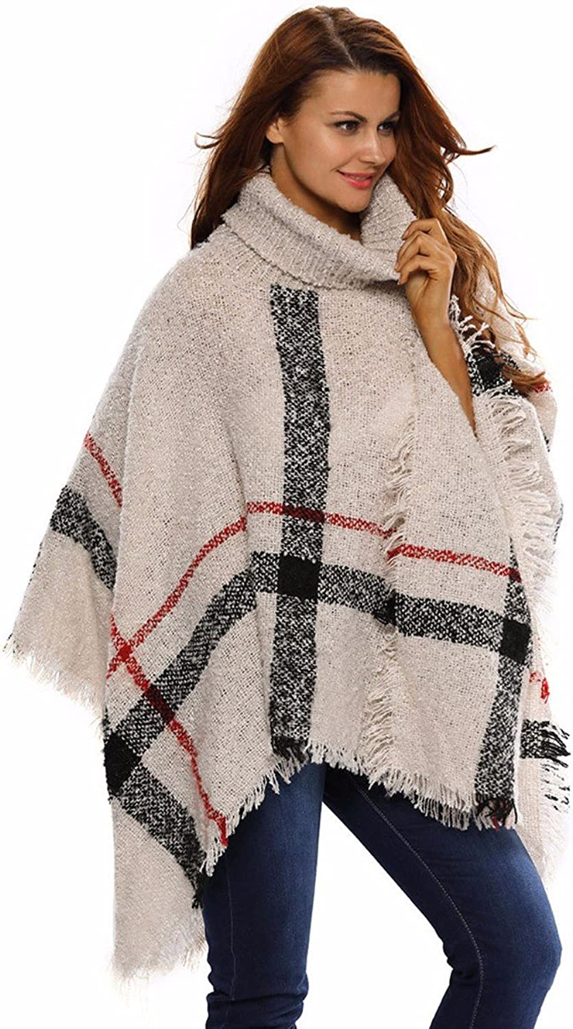 DHWMAutumn Winter Knitting Stylish High Collar So That Shawls Wild Sweater Jacket Is Code