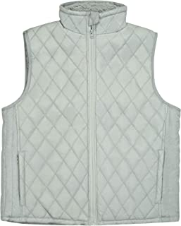 North 15 Women's Flannel Stand Collar Lightweight Quilted Gilet Zip Vest