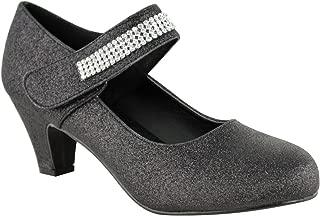 Fashion Thirsty Womens Wedding Diamante Prom Low Mid High Heel Bridal Court Pumps Shoes