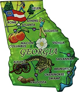 Georgia - Acrylic State Map Refrigerator Magnet