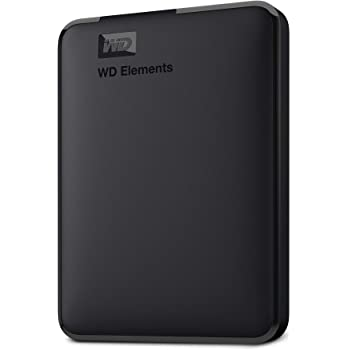 WD 2TB Elements Portable External Hard Drive, USB 3.0, Compatible with PC, Mac, PS4 & Xbox - WDBU6Y0020BBK-WESN