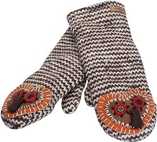 Animal World - Crafty Owl Knit Mittens Brown