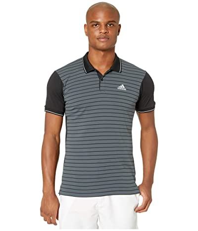 adidas Heat.Rdy Striped Polo Shirt (Black) Men