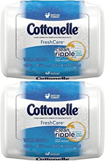 Cottonelle FreshCare Flushable Cleansing Cloths - 42 CT - 2 Pack