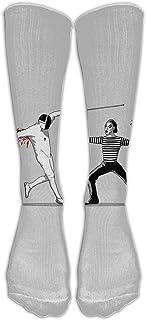 Calcetines de esgrima para hombre Cool Fencing Calcetines de algodón para ciclismo