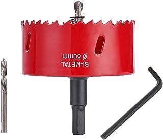 ASNOMY Seghe a Tazza Bi-metallica 80mm, Hole Saw Metal Hole Hole Cutter con Mandrino per sega a tazza per Iron Alluminio, ...