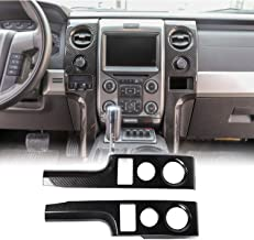 Voodonala for F150 Carbon Fiber Grain Central Console Cover Frame Outlet Vent Trim for Ford F150 2009-2014