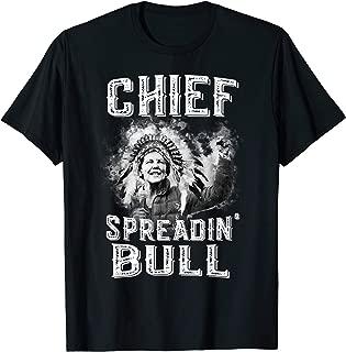 Funny Elizabeth Warren - Chief Spreading Bull - Trump USA T-Shirt