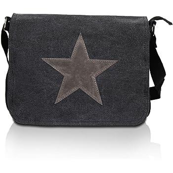 sac besace femmes 02012067 couleur:Beige styleBREAKER bandouli/ère avec /étoile strass et pierres d/écoratives sur le rabat sac /à main