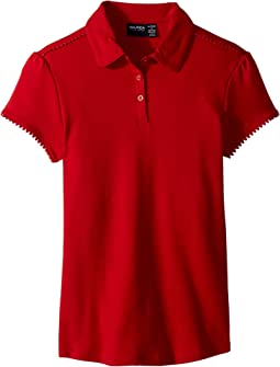 Short Sleeve Interlock Polo (Big Kids)