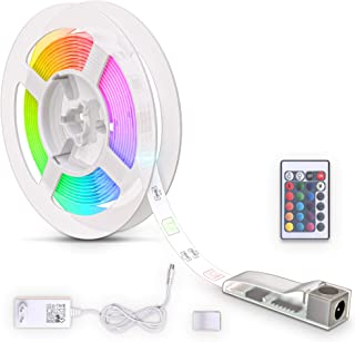 B.K.Licht LED Strip 3m, recubierto de silicona, RGB, control remoto, autoadhesivo, cambio de color, acortable, Tiras LED, ...