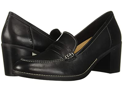 Hush Puppies Hannah Penny Mocc (Black Leather) Women