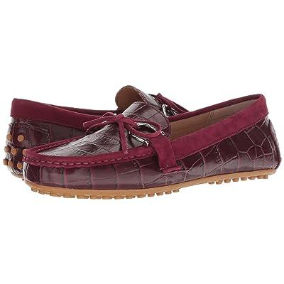LAUREN Ralph Lauren Briley Moccasin Loafer (Merlot/Merlot Soft Croc/Suede) Women