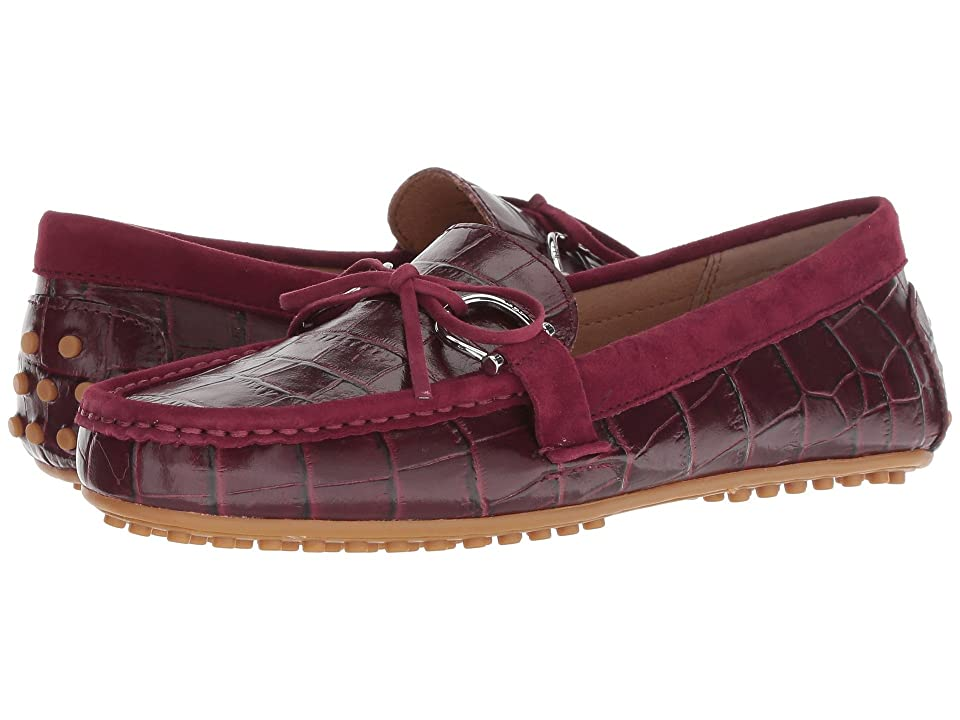 LAUREN Ralph Lauren Briley Moccasin Loafer (Merlot/Merlot Soft Croc/Suede) Women