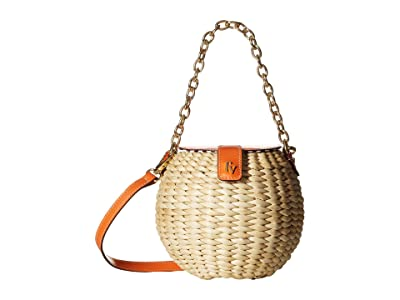 Frances Valentine Honeypot Crossbody (Natural/Tangerine) Handbags