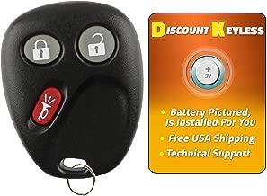 Discount Keyless Replacement Key Fob Car Entry Remote For Chevy Trailblazer GMC Envoy 15008008, 15008009