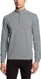 tasc Performance Men's core 1/4 Zip Pullover Jacket, Heather Gray, Small