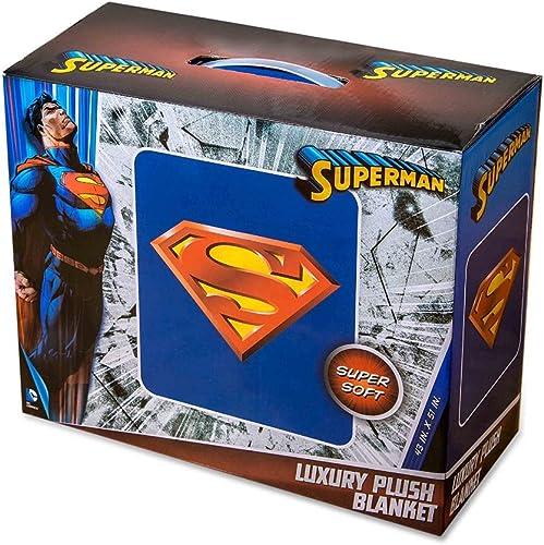 DC Comics Superman Lujo Super Suave Manta de Peluche
