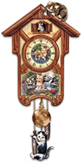 The Bradford Exchange Happy Trails Cuckoo Clock with Kitten Art by Jurgen Scholz: Limited Edition