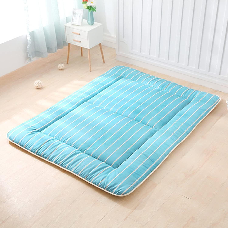 Thin Japanese Double Mattress, Tatami Floor Mat Quilted Student Dorm Non-Slip Futon Mattress Topper Foldable Cushion Mats