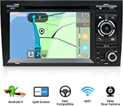Android 9.0 Double Din Car Stereo for Audi A4 2003-2011 HD 7 inch 2G RAM+32G ROM Car Audio GPS Navigation Head unit Support WiFi 4G Bluetooth Steering Wheel Google DAB OBD Free Backup Camera & Canbus