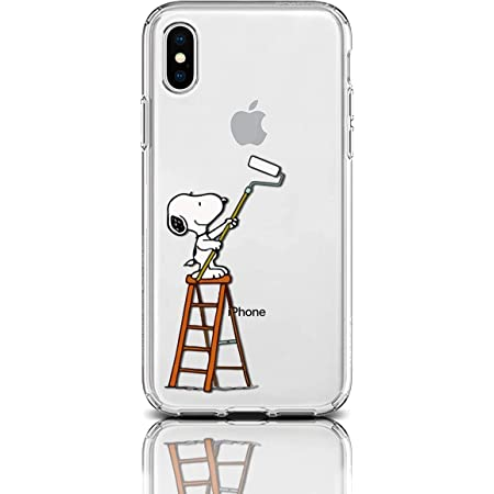 Case for Apple iPhone Protective Case Snoopy Charlie Brown Stripes Clear Transparent Silicone Flexible Design Art Cover iPhone (Paint It Snoopy, ...