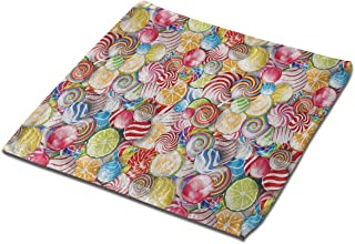 HARTG Lollipops Square Bath Towel, 13 Inch Washcloth Multipurpose Use for Sports, Travel, Bath, Beach, Kitchen