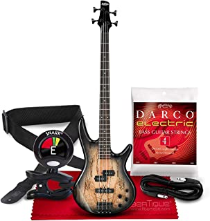 $289 » Ibanez GSR200 GIO 4-String Bass (Natural Gray Burst) + Clip-on Tuner, Guitar Strap, Guitar Strings, Cable and Fibertique M...