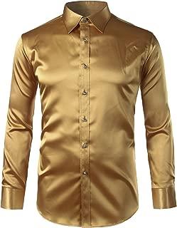 Best mens gold silk dress shirt Reviews