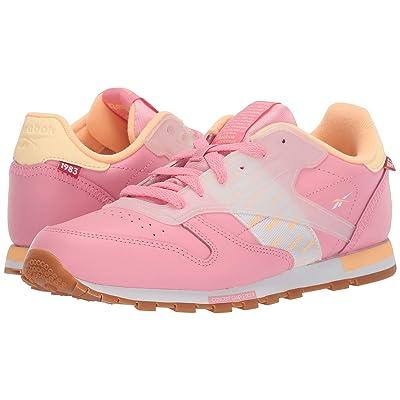 Reebok Kids CL Leather ATI (Big Kid) (Squad Pink/Desert Glow/White) Kids Shoes