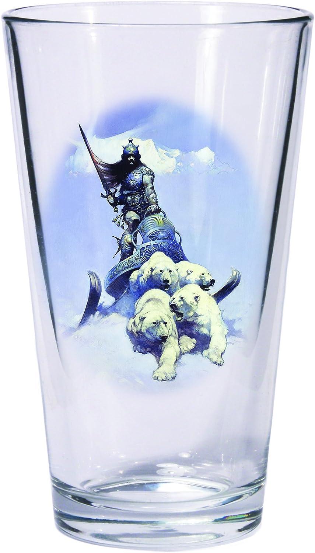 Dark Horse Deluxe Frank Frazetta Silver Warrior & The Huntress Pint Glass Set