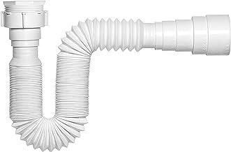Sifão Extensível Plástico 720 mm 12 Peças, Pincéis Atlas, Branco