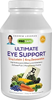 Andrew Lessman Ultimate Eye Support 60 Softgels - 12mg Lutein, 6mg Zeaxanthin, Bilberry, Key Nutrients to S...