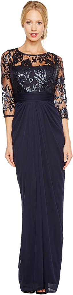 abbey downton s gown clothing lace adrianna drape women drapes yoke nordstrom inspired papell pin