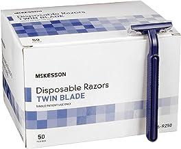 McKesson Razor Single Edge Twin Blade Blue 100 per Case 16-RZ50