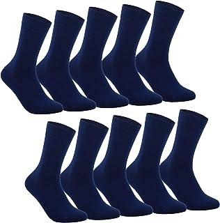 Calcetines Hombre Mujer Calcetines de Algodón Unisex 5|10 Pares Negro Ejecutivos Confort