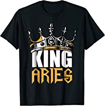 Aries Birthday Gifts - King Aries Zodiac T-Shirt