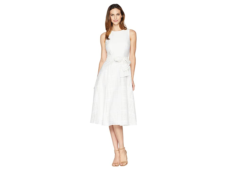 Calvin Klein Belted Midi Dress CD8H29NY (White/White) Women