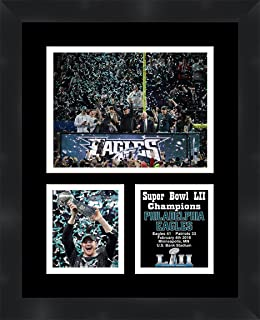 Carson Wentz Philadelphia Eagles 2018 Super Bowl LII (52) Champions Framed 11 x 14 Matted Collage Framed Photos Ready to hang