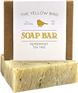 Peppermint & Tea Tree Soap Bar. All Natural Antifungal Soap for Acne, Athlete's Foot, Ringworm, Jock Itch. Organic Body & ...