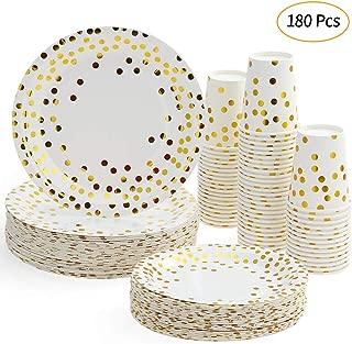 Disposable Cutlery Esonmus 60pcs 9oz Paper Cups + 60pcs 7