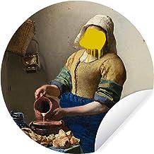 Muursticker Oude meestersKerst illustraties - Wandcirkel Oude meestersKerst illustraties - Het melkmeisje van oude meester...