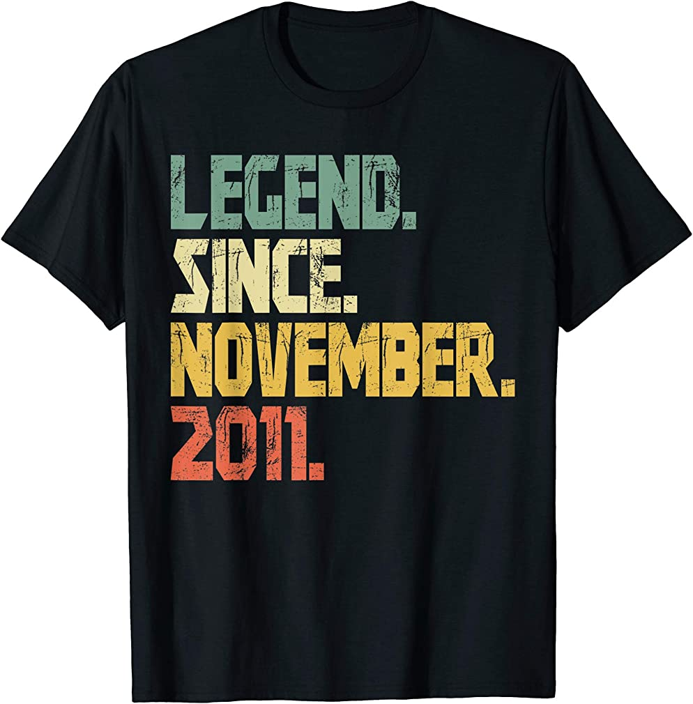 8 Years Old Shirt Gifts- Legend Since November 2011 T-shirt